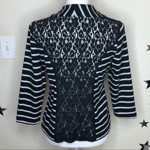 ✨✨ B & W Striped Cardigan with Lace Back ✨✨